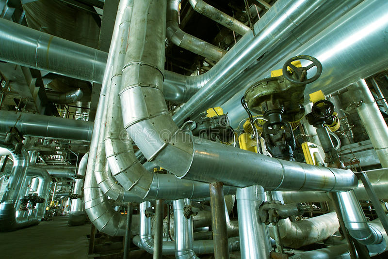 Interior of water treatment plant stock photography
