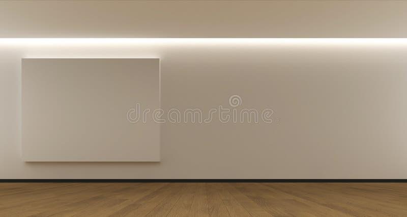 Interior whit a white panel royalty free stock photo