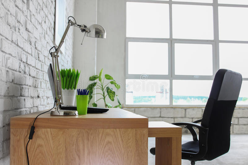 brick office furniture. Download Interior With White Brick Wall Stock Photo - Image Of Furniture, Design: 57242100 Office Furniture E