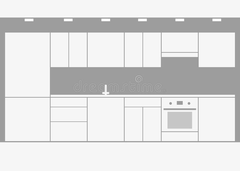 Modular Kitchen Stock Illustrations 181 Modular Kitchen Stock Illustrations Vectors Clipart Dreamstime