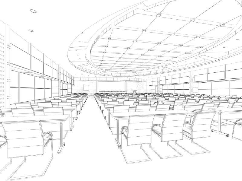 Interior wireframe plan royalty free stock image