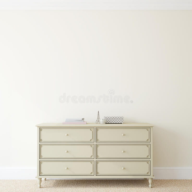 Free Interior With Dresser. Stock Photography - 49088452