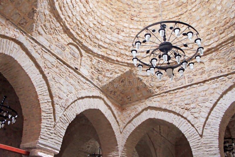 Interior of Yivli Minare Mosque, Antalya, Turkey royalty free stock photo
