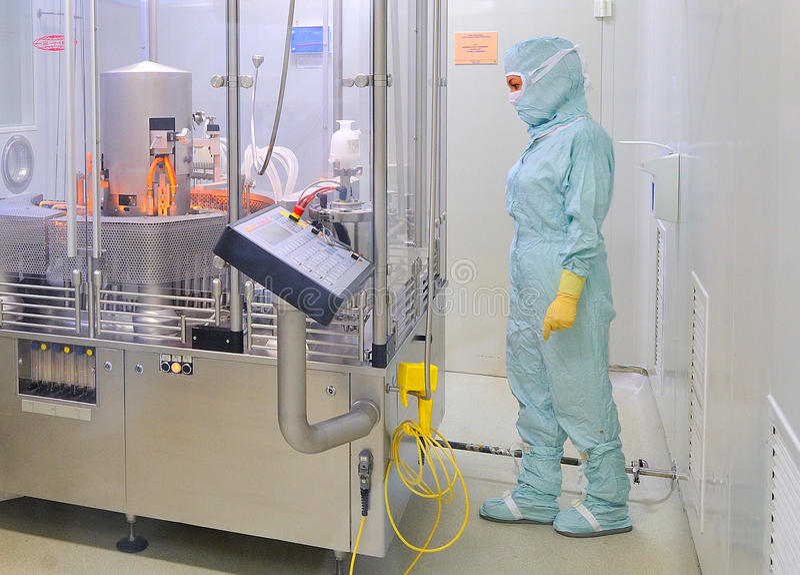 Interior of Zentiva drugs factory royalty free stock photo
