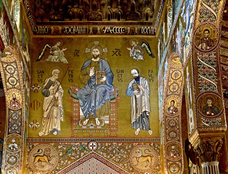 Interiore 4 della chiesa immagini stock libere da diritti