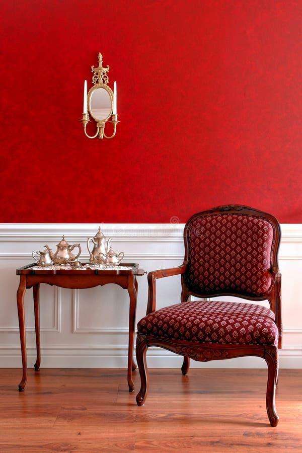 Interiore americano coloniale della Camera di stile fotografia stock