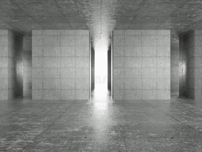 Interiore astratto di architettura illustrazione vettoriale
