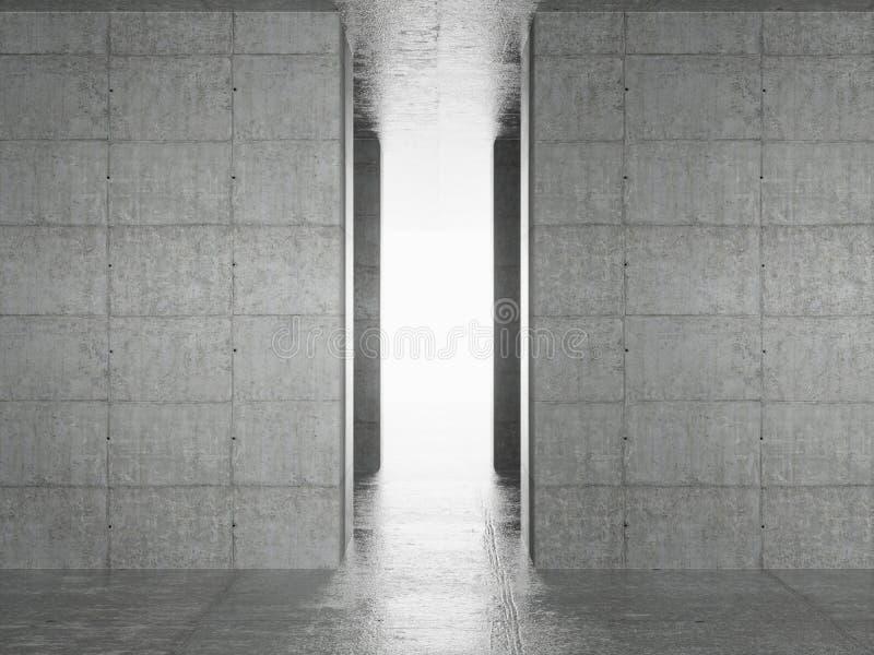 Interiore astratto di architettura illustrazione di stock
