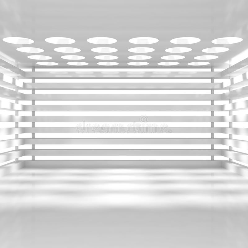 Interiore bianco vuoto illustrazione di stock