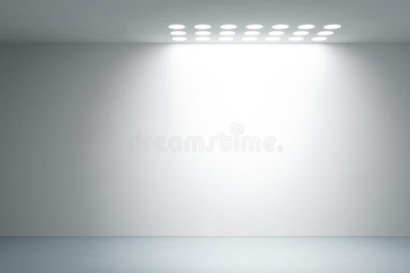 Interiore bianco vuoto illustrazione vettoriale