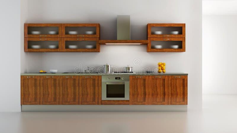 Interiore classico della cucina di stile royalty illustrazione gratis