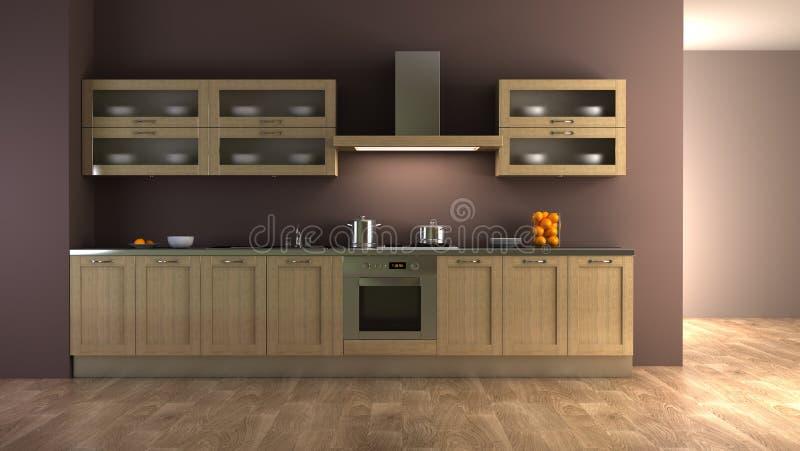Interiore classico della cucina di stile illustrazione di stock