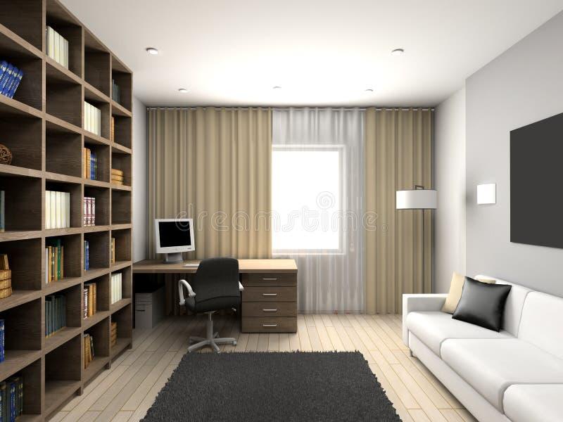 Interiore comodo moderno illustrazione di stock