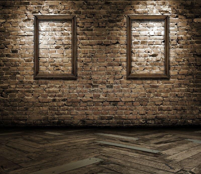Interiore con i blocchi per grafici in bianco fotografia stock libera da diritti