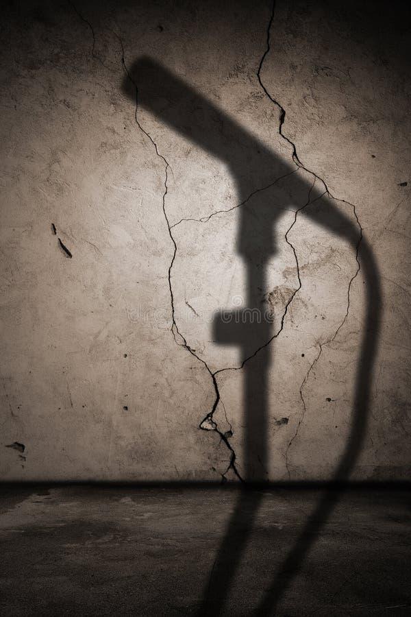 Interiore con l'ombra del microfono fotografie stock