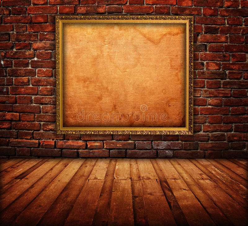 Interiore con la cornice fotografia stock