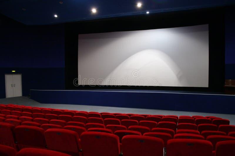 Interiore del cinematografo fotografia stock libera da diritti