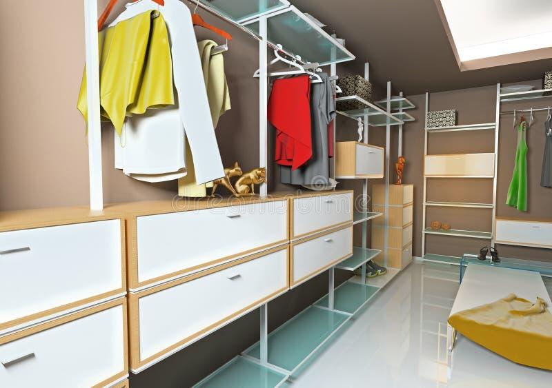 Interiore del guardaroba illustrazione vettoriale
