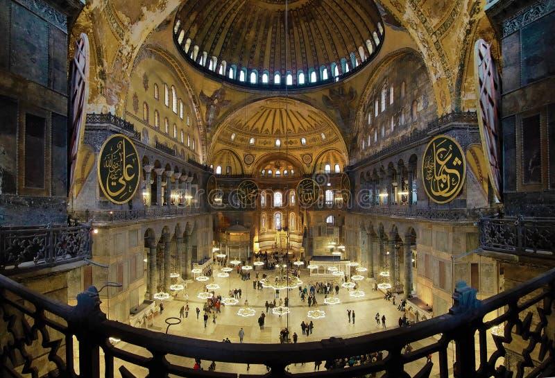 Interiore del Hagia Sophia a Costantinopoli fotografia stock libera da diritti