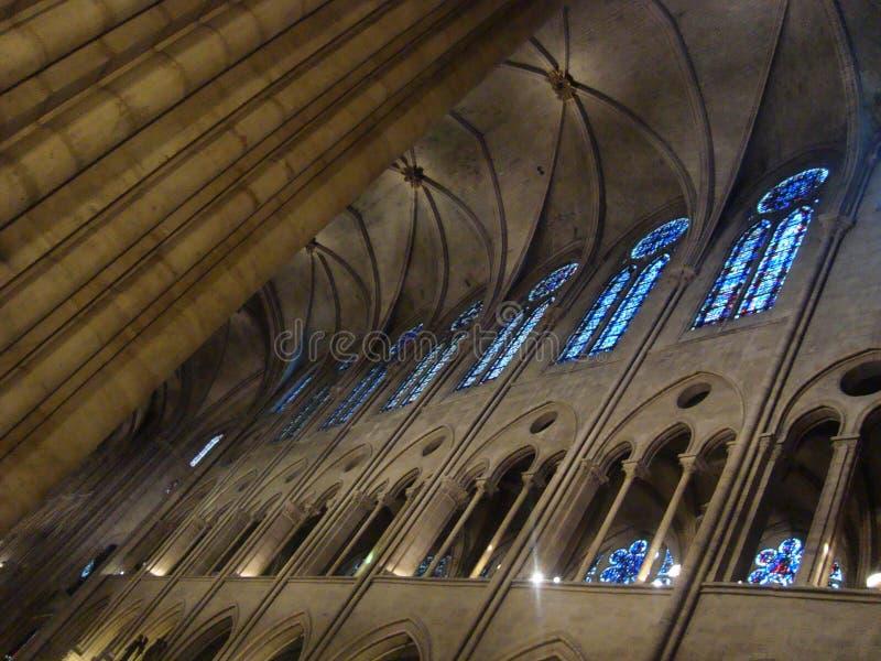 Interiore del Notre Dame fotografia stock