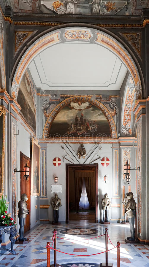 Interiore del palazzo del cavaliere immagine stock libera da diritti