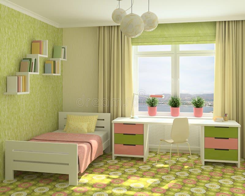 Interiore del playroom. illustrazione di stock
