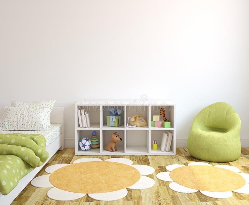 Interiore del playroom. illustrazione vettoriale