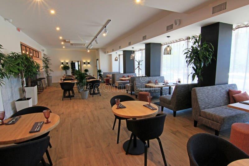 Interiore del ristorante fotografia stock