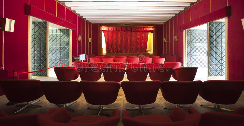 Interiore del teatro immagini stock