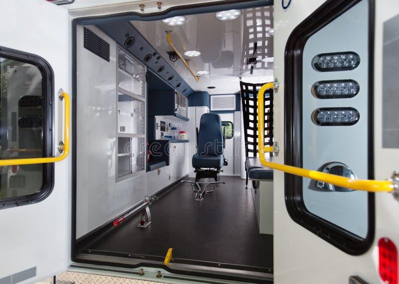 Interiore dell'ambulanza fotografie stock