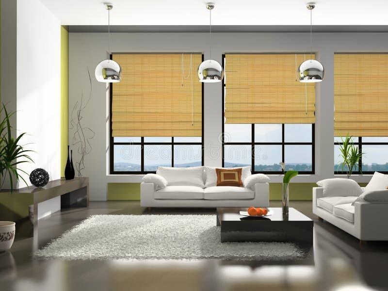 Interiore dell'appartamento illustrazione vettoriale