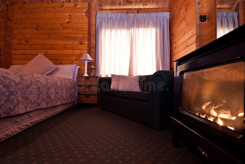 Interiore dell'appartamento della casetta del ghiacciaio di Fox - Nuova Zelanda fotografia stock libera da diritti