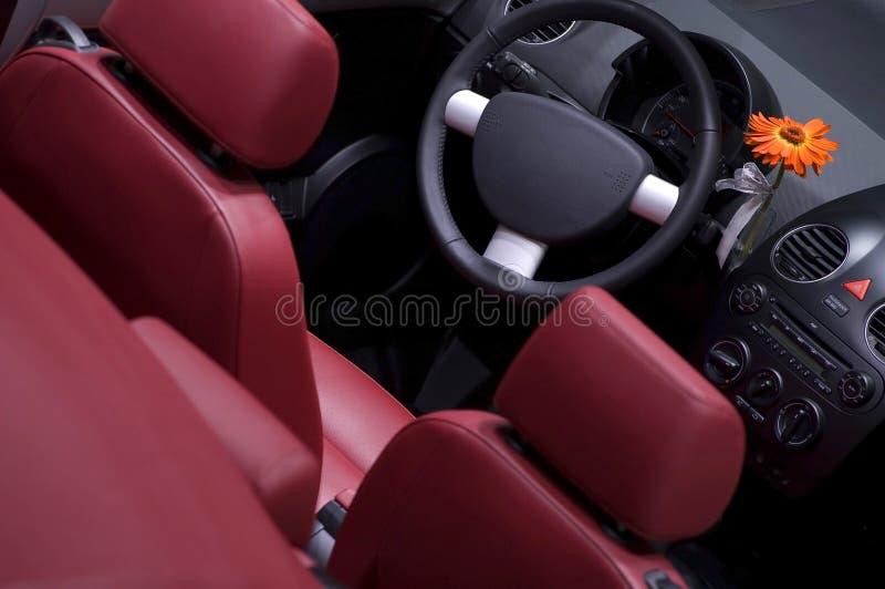 Interiore dell'automobile da sopra fotografia stock
