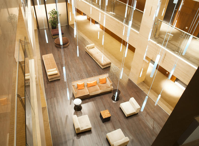 Interiore dell'hotel fotografia stock