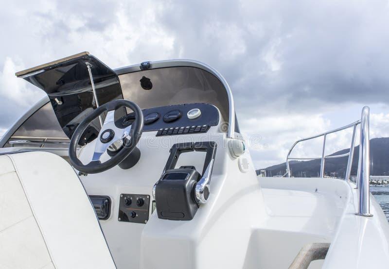 Interiore dell'yacht fotografia stock
