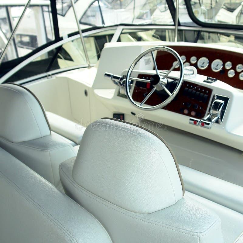 Interiore dell'yacht fotografie stock libere da diritti