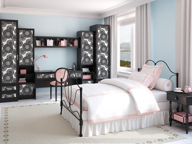 Stanza Da Letto Ragazza : Camera da letto lilla della ragazza fotografia stock camera da