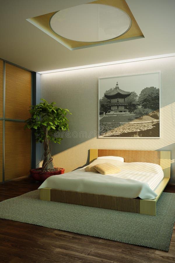 Interiore Della Camera Da Letto Di Stile Del Giappone ...