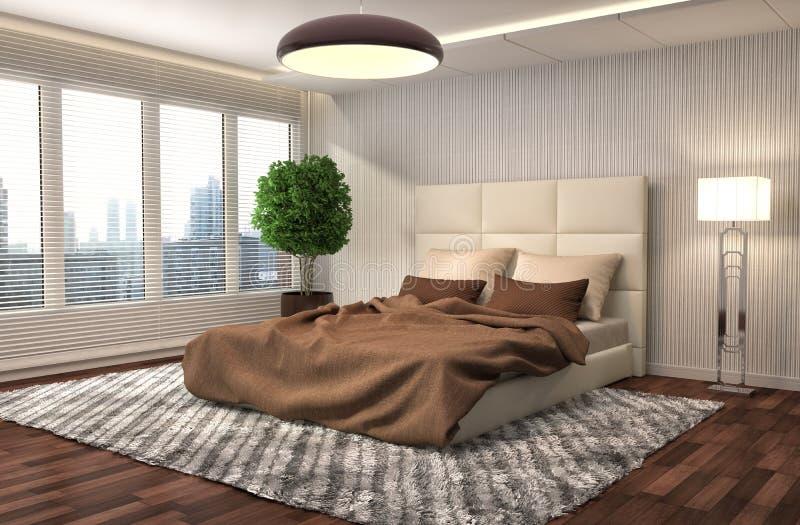 Interiore della camera da letto illustrazione 3D royalty illustrazione gratis