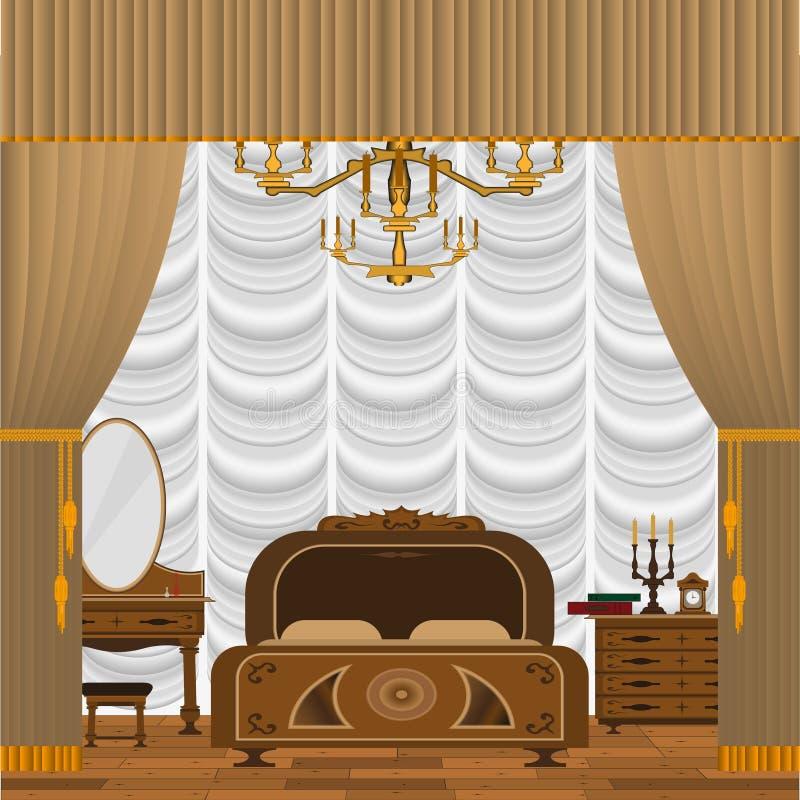 Interiore della camera da letto royalty illustrazione gratis