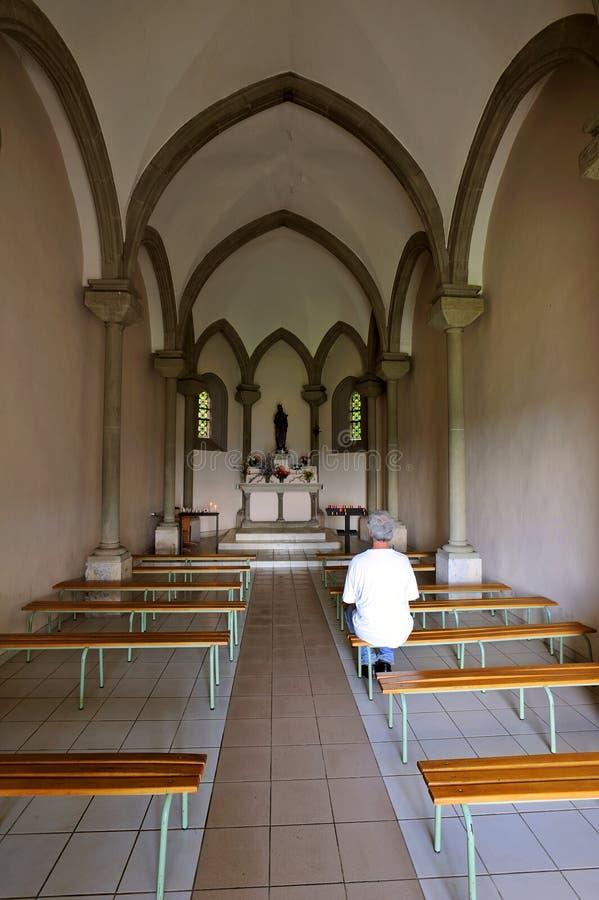Interiore della cappella immagine stock libera da diritti
