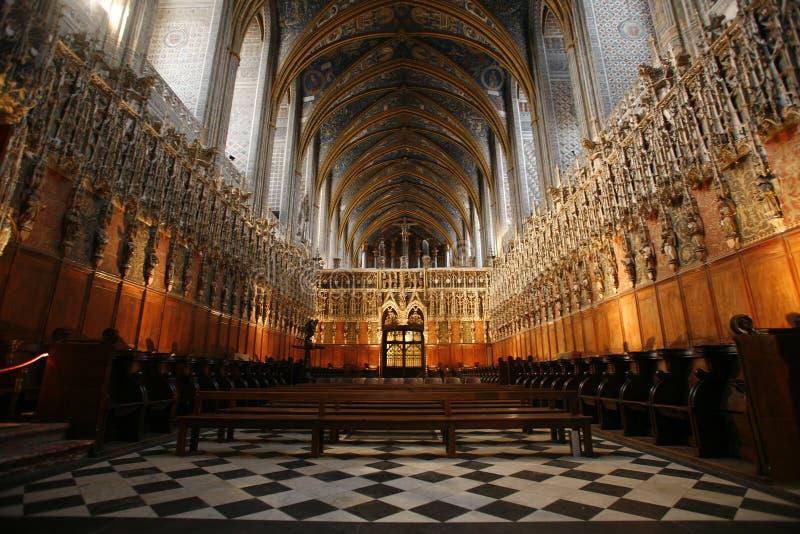 interiore della cattedrale di Albi fotografie stock libere da diritti
