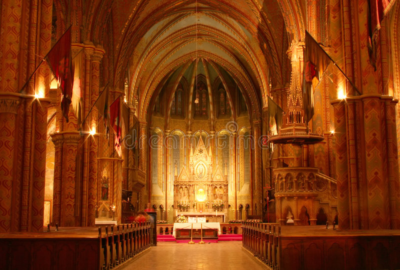 Interiore della chiesa immagine stock