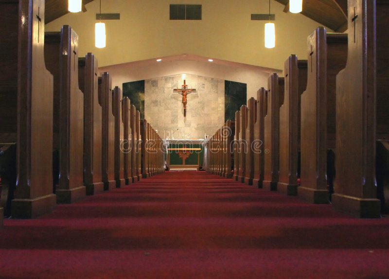 Interiore della chiesa fotografia stock