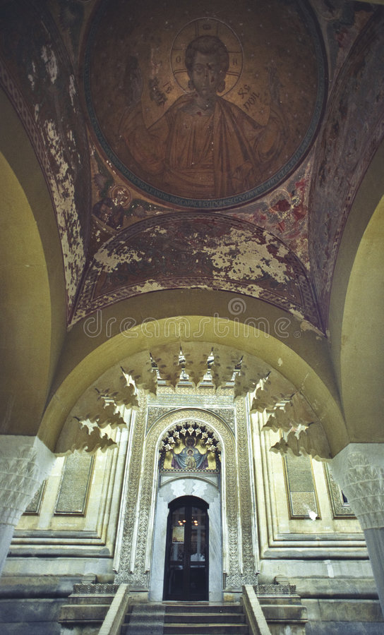 Interiore della chiesa immagini stock libere da diritti