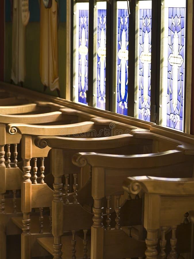 Interiore della chiesa in Bethany, Jo fotografie stock libere da diritti