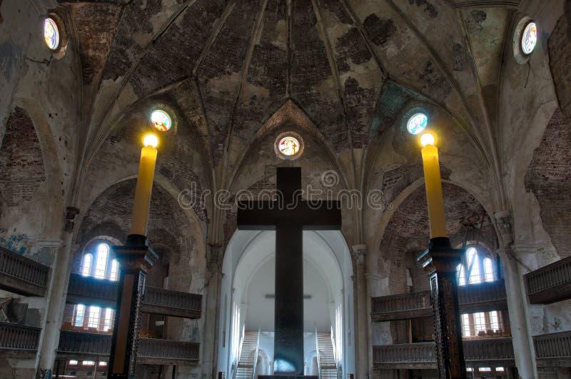 Interiore della chiesa di Narva fotografia stock