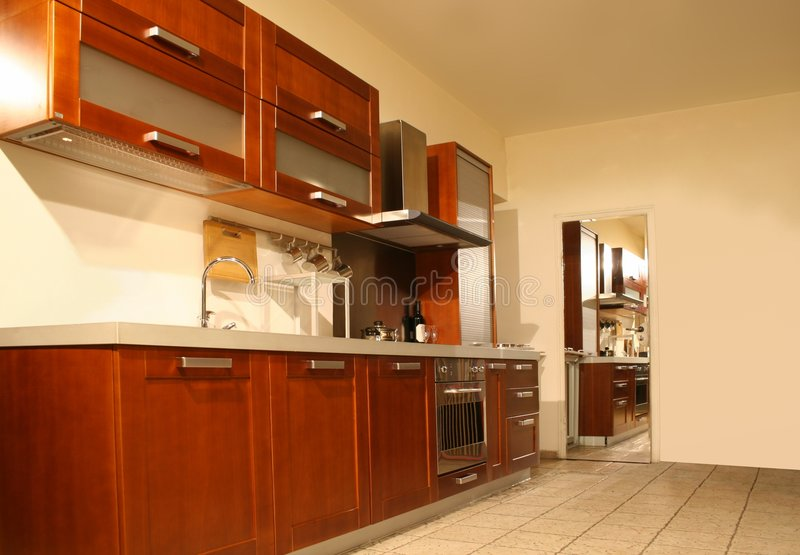 Interiore della cucina fotografie stock libere da diritti