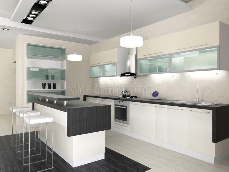 Interiore della cucina illustrazione vettoriale