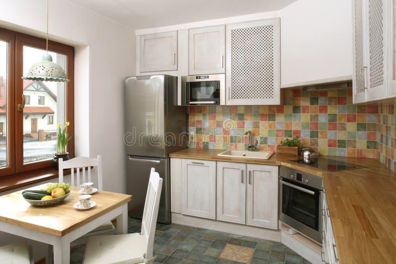 Interiore della cucina domestica immagini stock